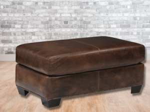 rectangular leather ottoman