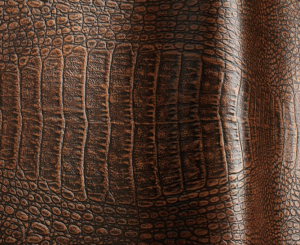Reptile Etched Leather