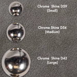 chrome shine studs