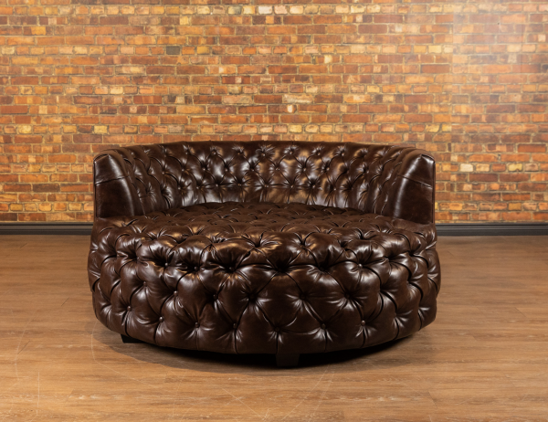 Leather Cudler tufted