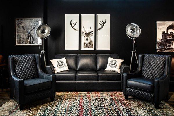 Quintessence leather sofa