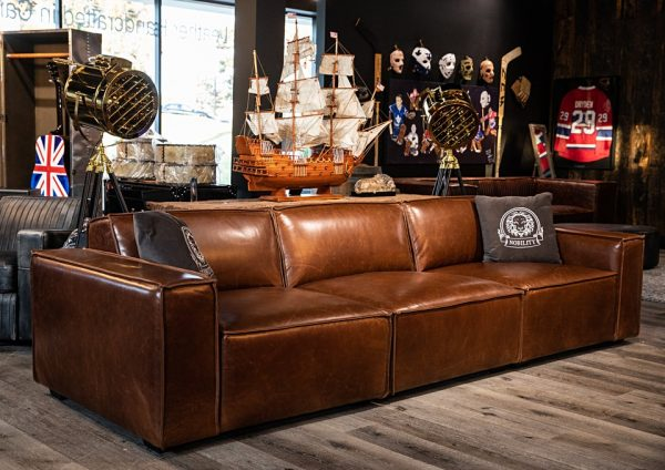 commodore leather sofa