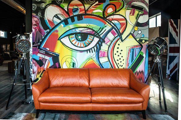 louvre leather sofa